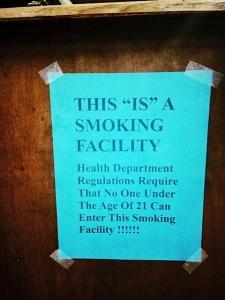 smoking facility